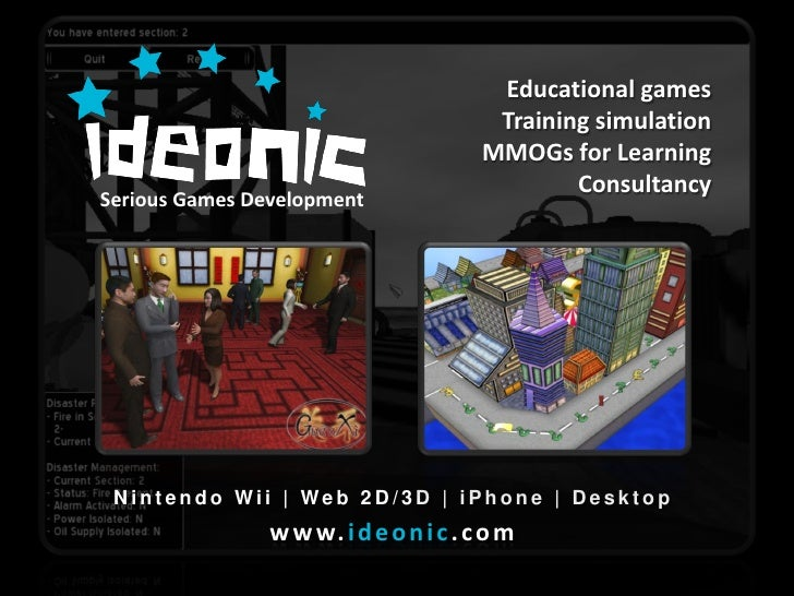 Educational games                                          Training simulation                                         MMO...