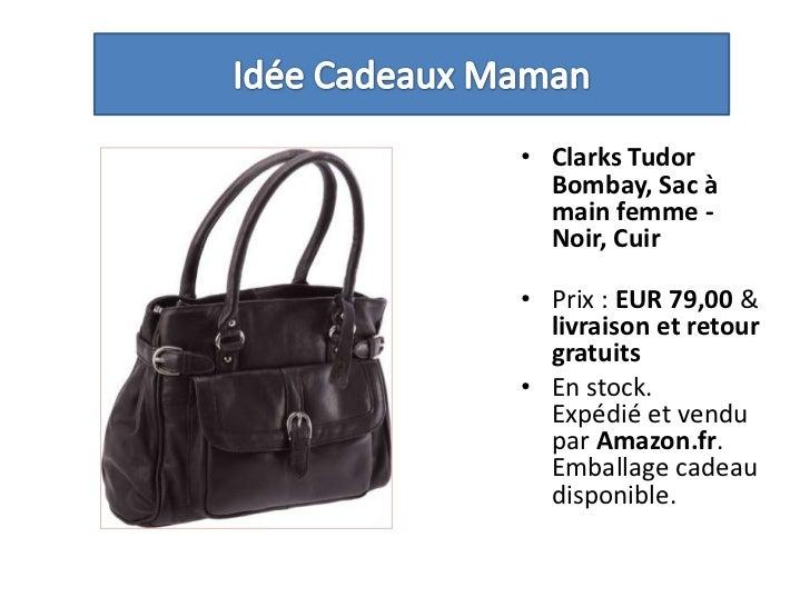 Idée Cadeaux Maman<br />Clarks Tudor Bombay, Sac à main femme - Noir, Cuir <br />Prix : EUR 79,00 & livraison et retour gr...
