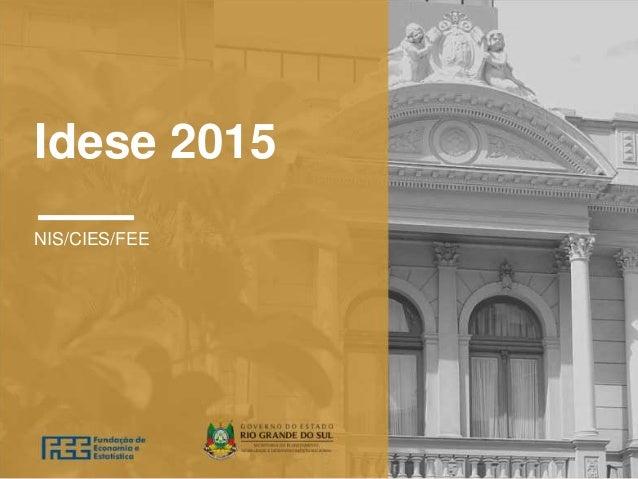 Idese 2015 NIS/CIES/FEE