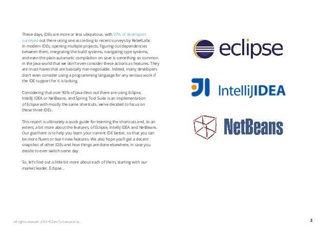 Top Java IDE keyboard shortcuts for Eclipse, IntelliJIDEA
