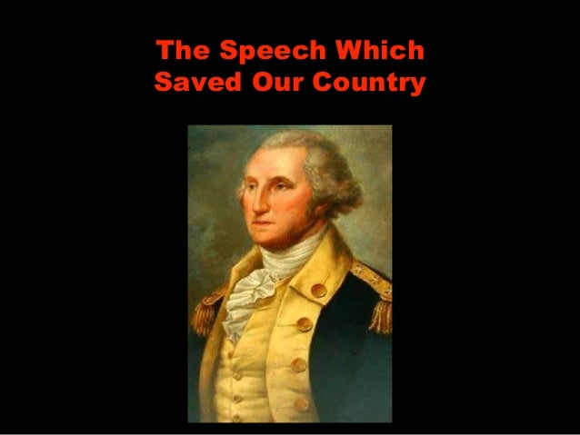 The Speech Which Saved Our Country