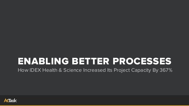 ENABLING BETTER PROCESSES How IDEX Health & Science Increased Its Project Capacity By 367%