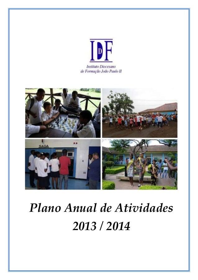 Plano Anual de Atividades 2013 / 2014