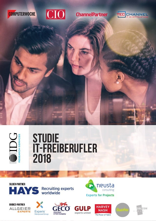 RESEARCHSERVICES Studie IT-Freiberufler 2018 Silber-Partner bronze-Partner