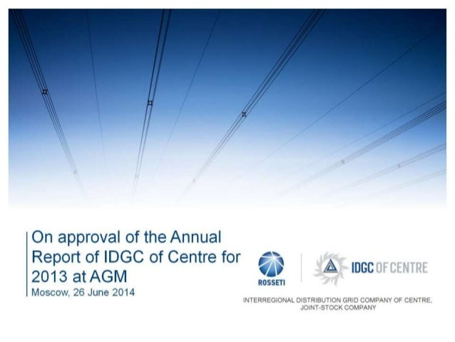 IDGC of Centre's annual General Shareholders Meeting 2014