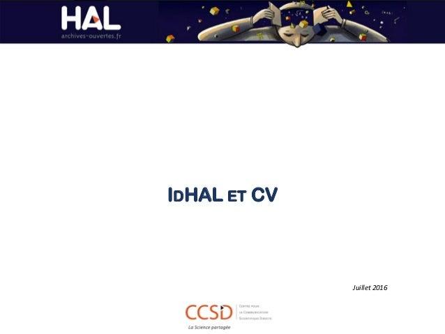 IDHAL ET CV Juillet 2016