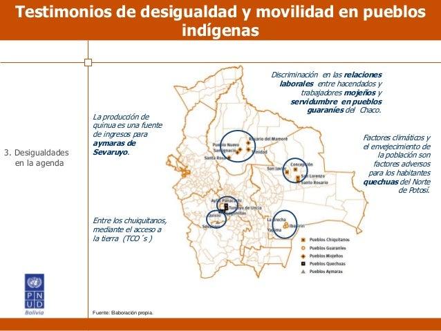 Testimonios de desigualdad y movilidad en pueblos indígenas La producción de quinua es una fuente de ingresos para aymaras...