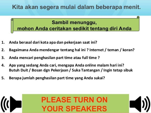 Herbalife Opportunity - Bahasa Indonesia !