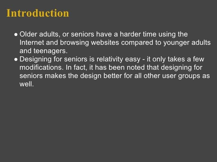 Website Design for Senior Citizens Slide 2
