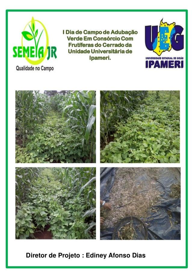I Dia de Campo de Adubação Verde Em Consórcio Com Frutíferas do Cerrado da Unidade Universitária de Ipameri. Diretor de Pr...