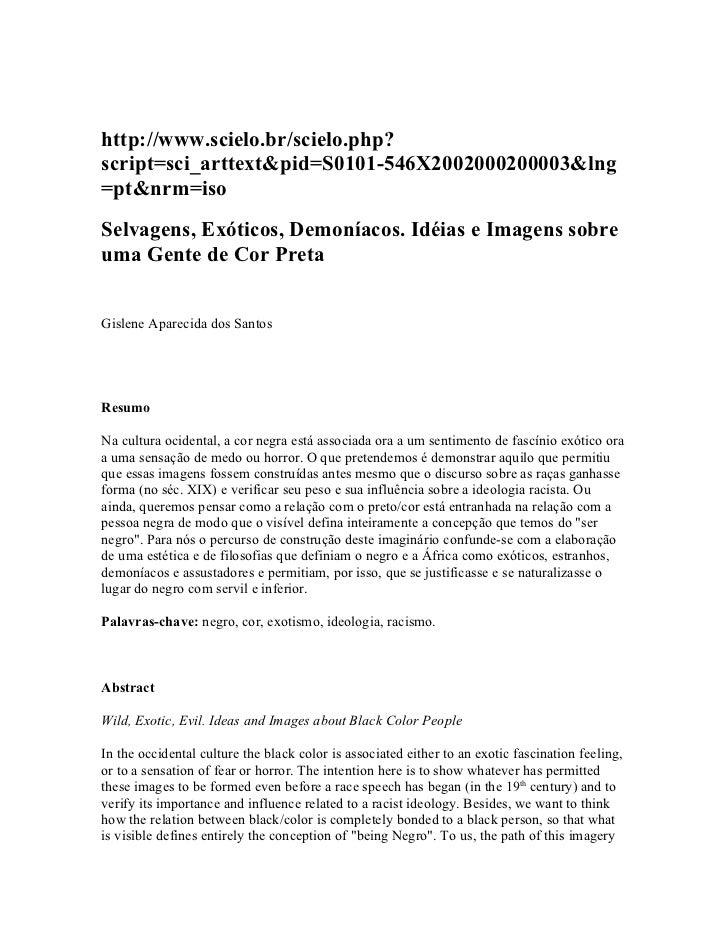 http://www.scielo.br/scielo.php?script=sci_arttext&pid=S0101-546X2002000200003&lng=pt&nrm=isoSelvagens, Exóticos, Demoníac...