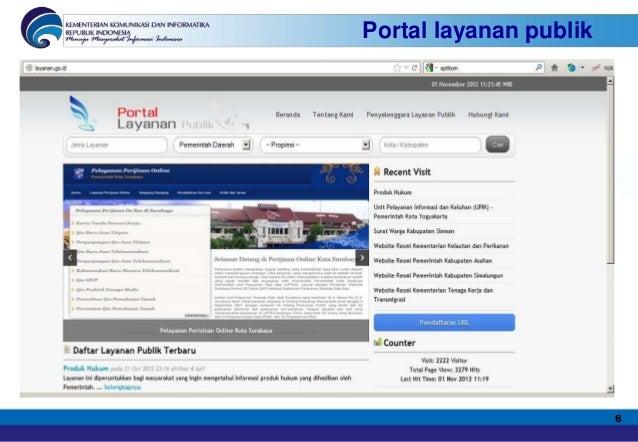 Portal layanan publik                        6