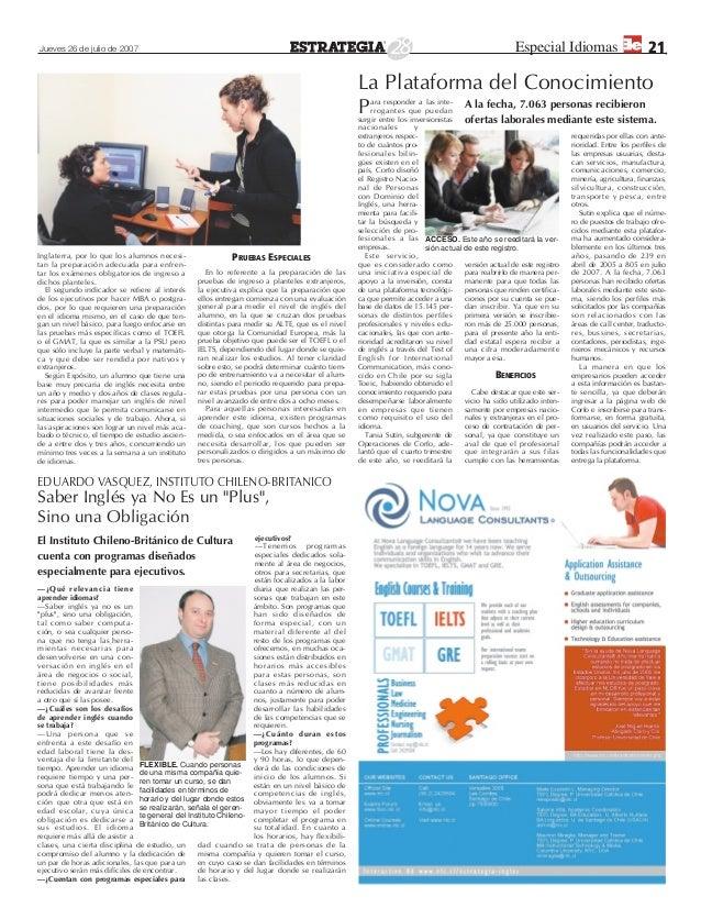 Especial de Idiomas. Diario Estrategia 2007  Slide 2