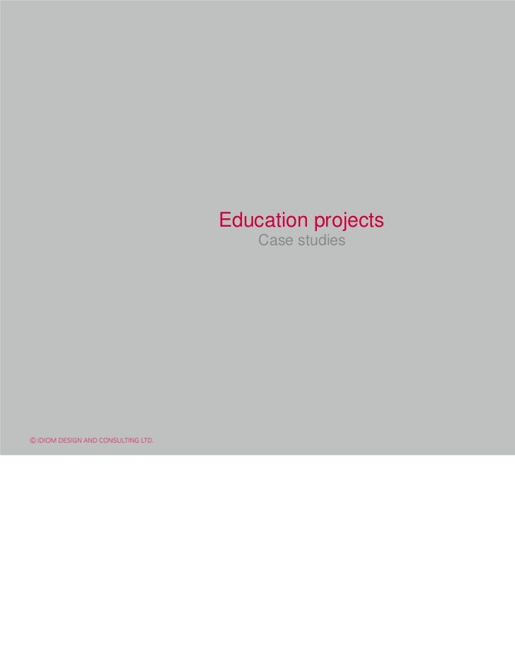 Education projects    Case studies