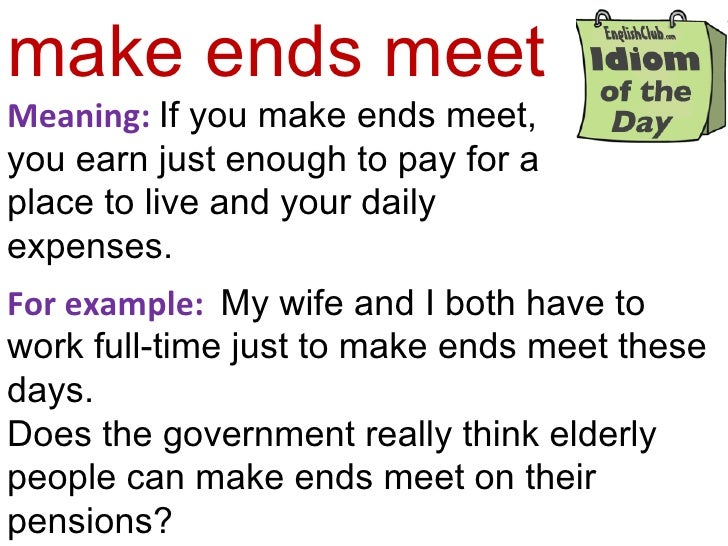 making ends meet burkett