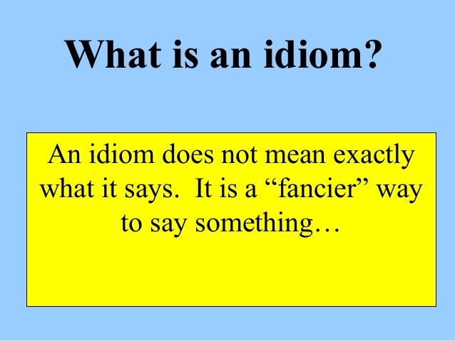 Idioms For Fourth Graders