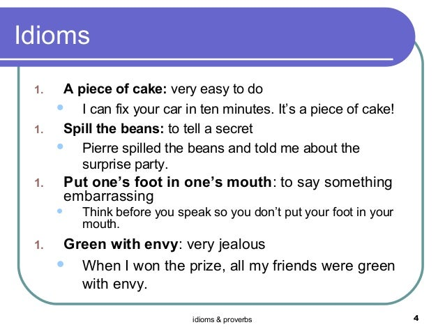 Idioms proverbs 5th