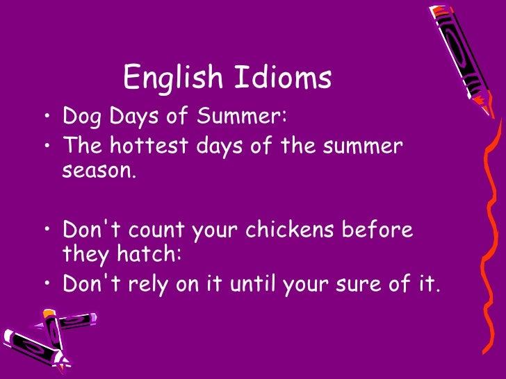 idioms revised