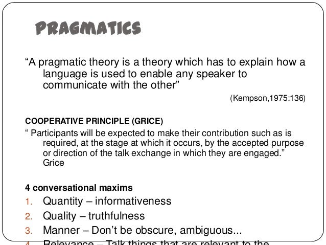 relationship between discourse and pragmatics meaning