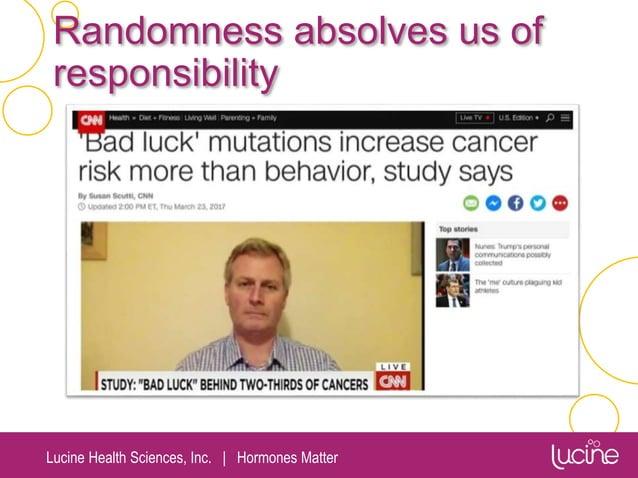 Lucine Health Sciences, Inc.   Hormones Matter Randomness absolves us of responsibility