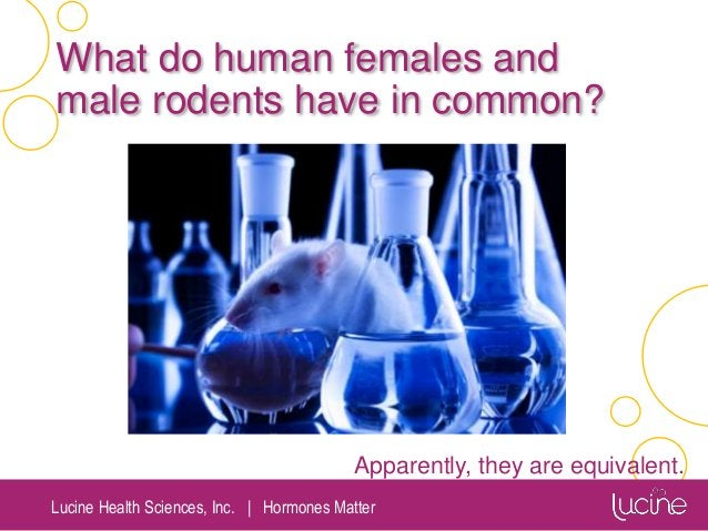 Lucine Health Sciences, Inc.   Hormones Matter What do human females and male rodents have in common? Apparently, they are...