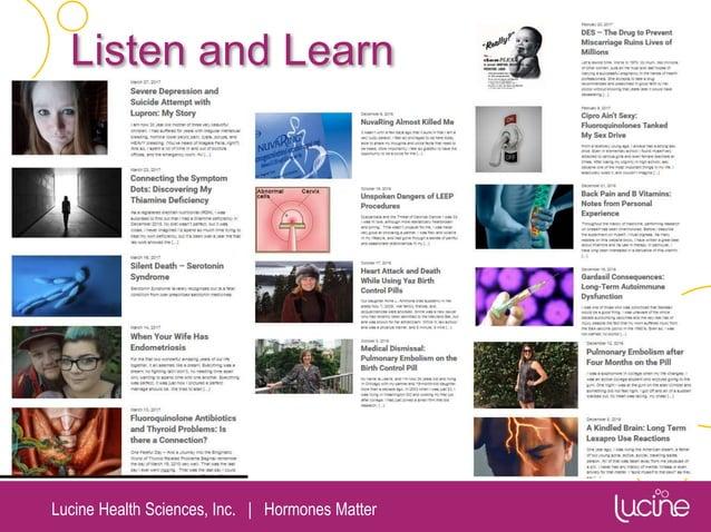 Lucine Health Sciences, Inc.   Hormones Matter Listen and Learn