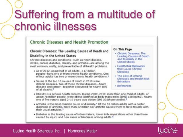 Lucine Health Sciences, Inc.   Hormones Matter Suffering from a multitude of chronic illnesses
