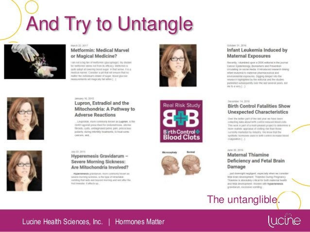 Lucine Health Sciences, Inc.   Hormones Matter And Try to Untangle The untanglible.