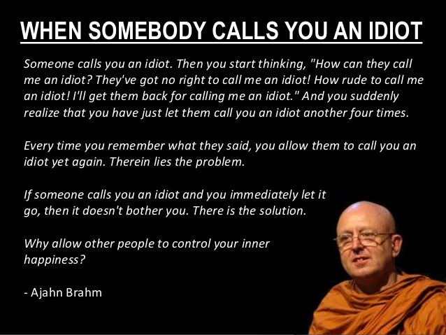 """WHEN SOMEBODY CALLS YOU AN IDIOT Someone calls you an idiot. Then you start thinking, """"How can they call me an idiot? They..."""