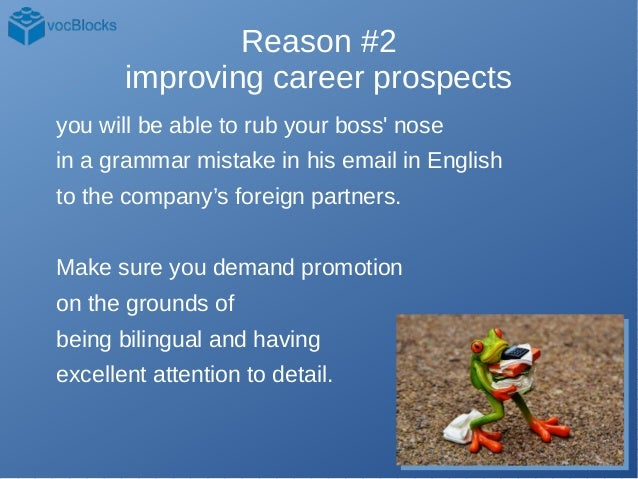 An Idiot's List of 15 and A Half Reasons to Learn English Slide 3