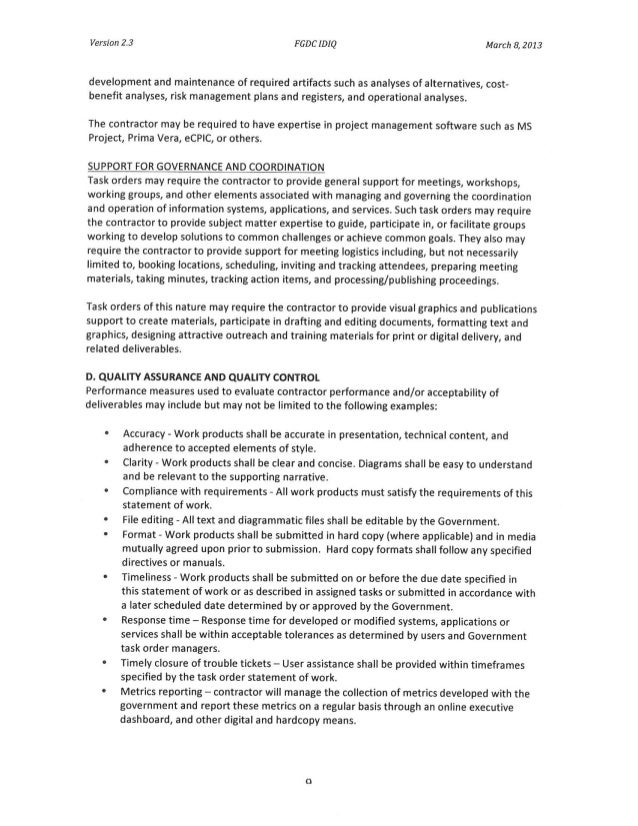 Awesome Idiq Contract Template Festooning - Examples Professional ...