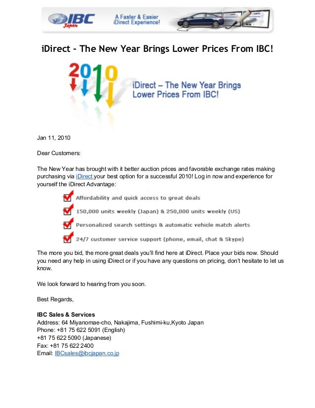 iDirect - The New Year Brings Lower Prices From IBC!  Jan11,2010 DearCustomers: TheNewYearhasbroughtwithitbetter...