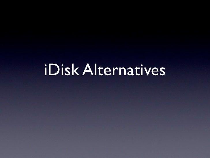 iDisk Alternatives