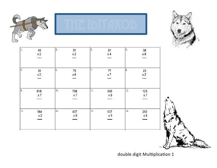 Iditarod Basic Math Fact Worksheets | Power Point Maniac'-s ...