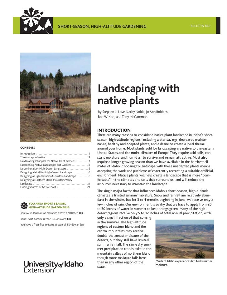 Id landscaping with native plants for Landscaping with native plants
