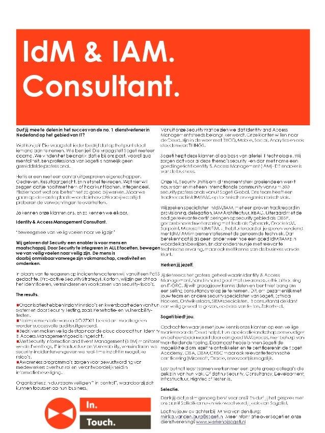 IdM & IAM. Consultant.