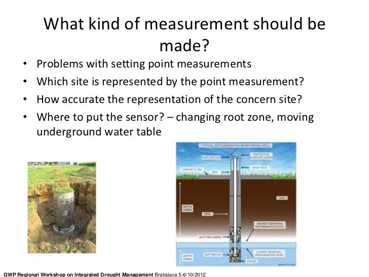 What kind of measurement should be                             made?       •    Problems with setting point measurements  ...