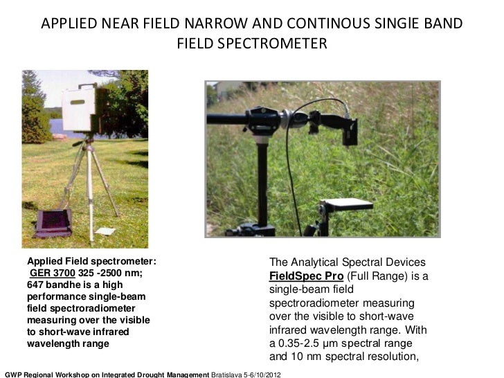 APPLIED NEAR FIELD NARROW AND CONTINOUS SINGlE BAND                           FIELD SPECTROMETER      Applied Field spectr...