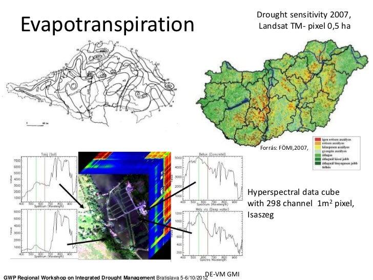 Drought sensitivity 2007,      Evapotranspiration                                                                 Landsat ...