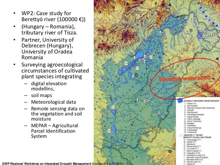 • WP2: Case study for         Berettyó river (100000 €))       • (Hungary – Romania),         tributary river of Tisza.   ...