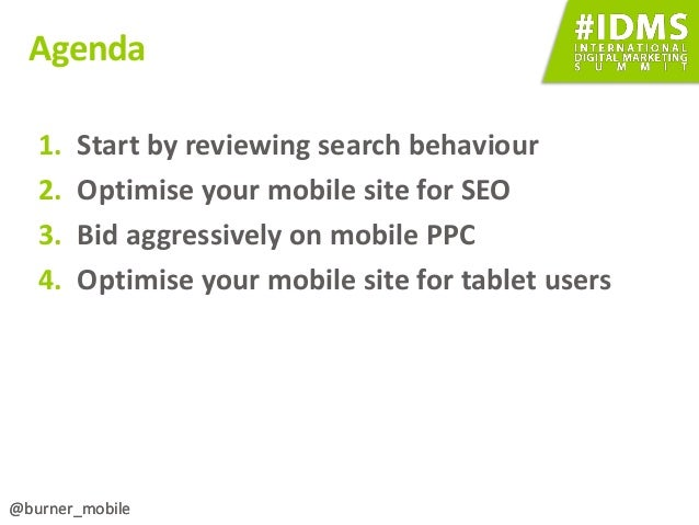 Getting the most from Mobile Search (SEO + PPC) slideshare - 웹