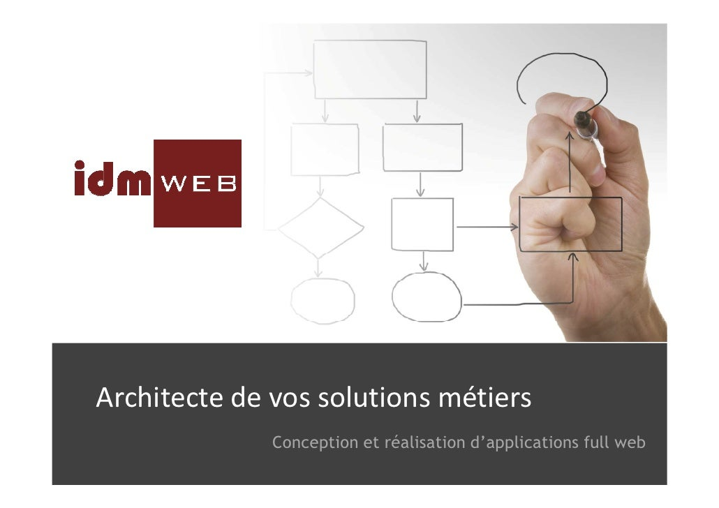 Architecte de vos solutions métiers              Conception et réalisation d'applications full web