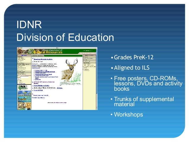 Illinois Department Of Natural Resources Division Of Education