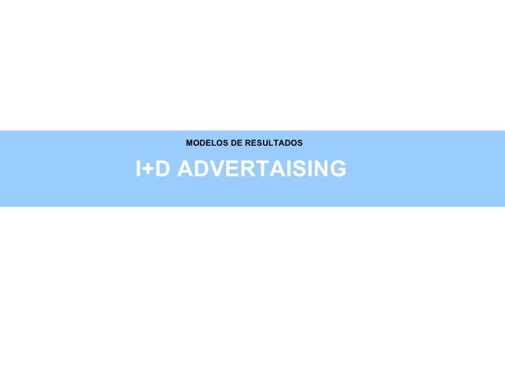 MODELOS DE RESULTADOS I+D ADVERTAISING
