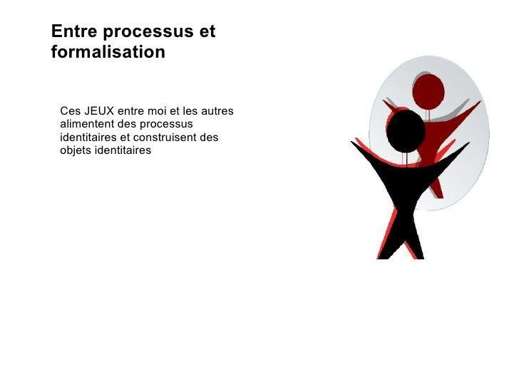 Entre processus et formalisation Ces JEUX entre moi et les autres alimentent des processus identitaires et construisent de...