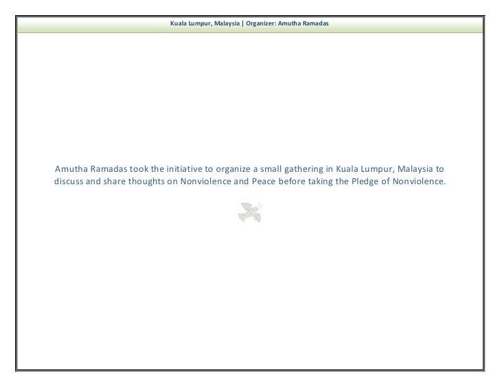 nonviolence newsletter volume   74