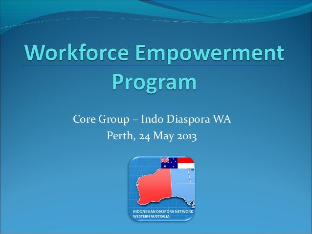 Core Group – Indo Diaspora WAPerth, 24 May 2013