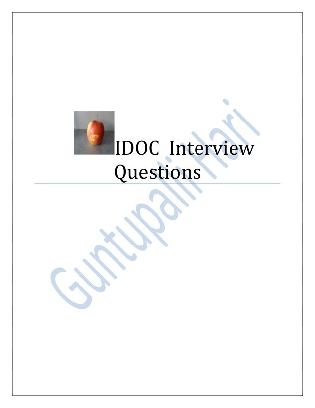 IDOC Interview Questions