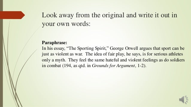 george orwell the sporting spirit essay Please note that the poems and essays on this site are copyright and may not be reproduced without the author's permission george orwell: the sporting spirit, from shooting an elephant and other essays, 1950 10 july 2010 at 09:22.