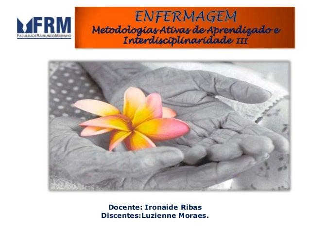 Docente: Ironaide Ribas Discentes:Luzienne Moraes. Metodologias Ativas de Aprendizado e Interdisciplinaridade III